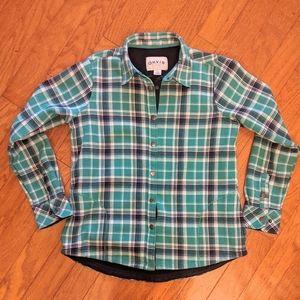 Orvis Fleece lined flannel shirt M